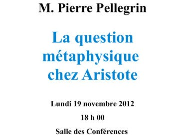 La question métaphysique chez Aristote