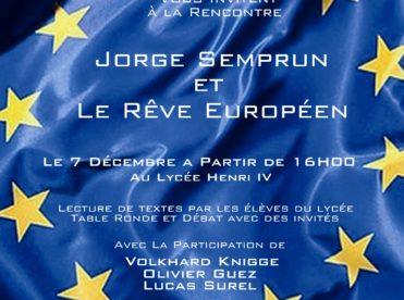 Jorge Semprun et Le Rêve Européen