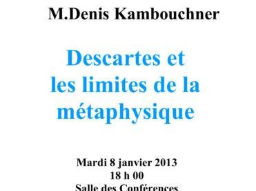 Descartes et les limites de la métaphysique