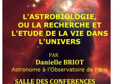 L'Astrobiologie, ou la recherche et l'étude de la Vie dans l'Univers