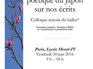 Un souffle poétique du Japon sur nos écrits