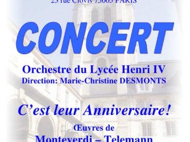 Concert d'été de l'Orchestre du Lycée