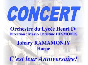 Concert de l'orchestre du lycée Henri-IV