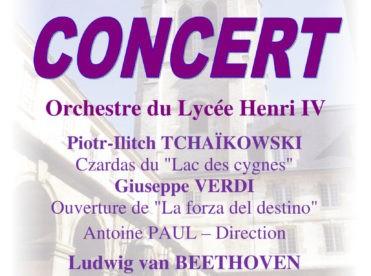 Concert de l'Orchestre du Lycée