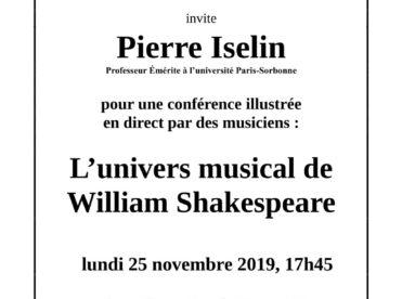 L'univers musical de William Shakespeare