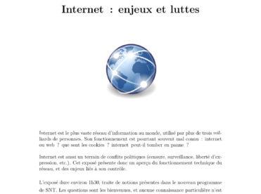 Internet : enjeux et luttes