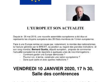 L'Europe et son actualité